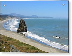 Acrylic Print featuring the photograph Needle Rock 1, Cape Blanco, Oregon by Dawn Richards