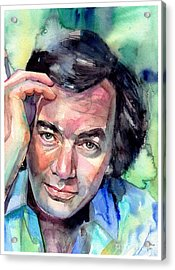 Neil Diamond Portrait I Acrylic Print