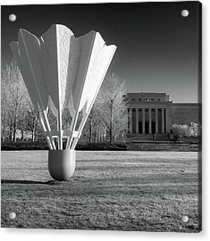 Nelson Atkins Art Museum In Infrared - Kansas City - Square Acrylic Print