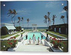 Neo-classical Pool Acrylic Print by Slim Aarons