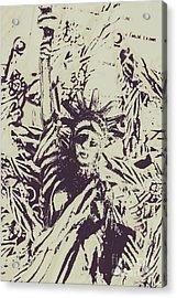 Neoclassical Lady Landmark Acrylic Print