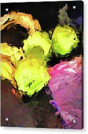 Neon Apples With Bananas Acrylic Print