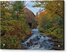 Acrylic Print featuring the photograph New England Fall Foliage At Moore State Park by Juergen Roth