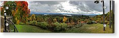 Acrylic Print featuring the photograph New England Fall Panoramic - Castle In The Clouds by Joann Vitali