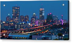 New England Patriots - Boston Skyline Acrylic Print