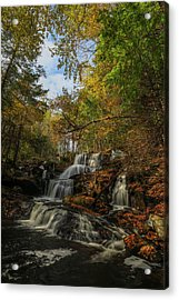 Acrylic Print featuring the photograph New Hampshire Garwin Waterfall by Juergen Roth