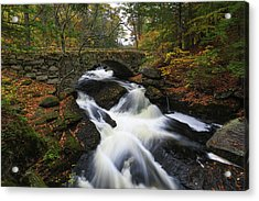 Acrylic Print featuring the photograph New Hampshire Gleason Falls by Juergen Roth