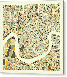 New Orleans Map 1 Acrylic Print