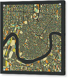 New Orleans Map 2 Acrylic Print