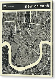 New Orleans Map 3 Acrylic Print