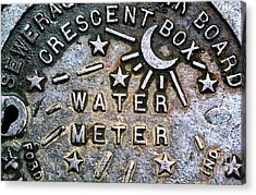 New Orleans Water Meter Cover Acrylic Print