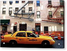 New York, Cab Acrylic Print