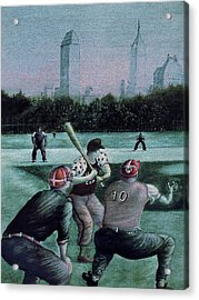 New York Central Park Baseball - Watercolor Art Painting Acrylic Print