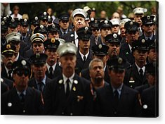 New York City Fire Fighters Commemorate Acrylic Print