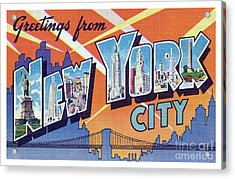 New York City Greetings - Version 2 Acrylic Print