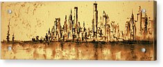 New York City Skyline 79 - Water Color Drawing Acrylic Print