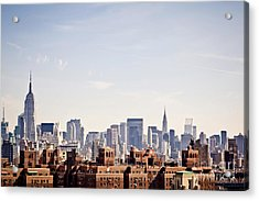 New York City Skyline Taken From Acrylic Print