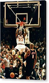 New York Knicks Patrick Ewing Does A Acrylic Print by New York Daily News Archive