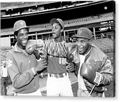 New York Mets Dwight Gooden Laughs Off Acrylic Print