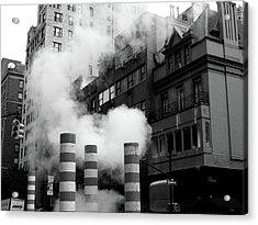 New York, Steam Acrylic Print