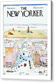 New Yorker March 29, 1976 Acrylic Print