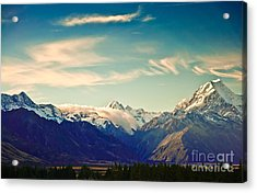New Zealand Scenic Mountain Landscape Acrylic Print