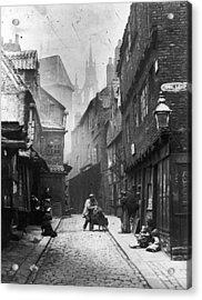 Newcastle Slum Acrylic Print by Lyddel Sawyer