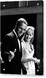 Newman & Woodward Attend Formal Event Acrylic Print
