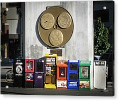 Newsstands At Gilmore Acrylic Print