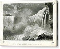 Niagara Falls 1850 To 1899 Canadian Side Acrylic Print