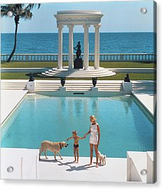 Nice Pool Acrylic Print by Slim Aarons