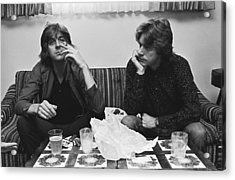 Nick Lowe & Dave Edmunds Portrait Acrylic Print by George Rose