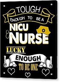 Cute Nicu Nurse Neonatal Nursing Preemie Baby Care Acrylic Print