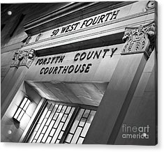 Acrylic Print featuring the photograph Night Court by Patrick M Lynch