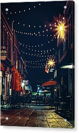 Night Dining In The City Acrylic Print