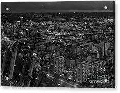Night In Tampere Acrylic Print by Tapio Koivula