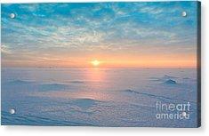 Night Is Coming Ice Desert Acrylic Print