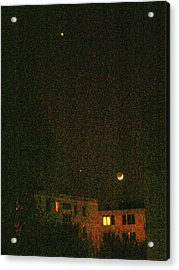 Acrylic Print featuring the photograph Night Lights by Attila Meszlenyi
