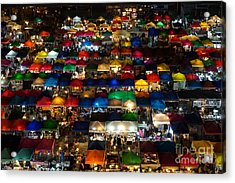 Night Market At Ratchada Rd. In Acrylic Print