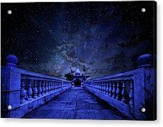 Night Sky Over The Temple Acrylic Print