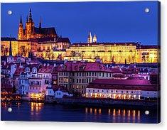 Nightfall Over Prague Acrylic Print by Andrew Soundarajan