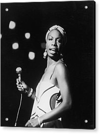 Nina In Concert Acrylic Print by Hulton Archive