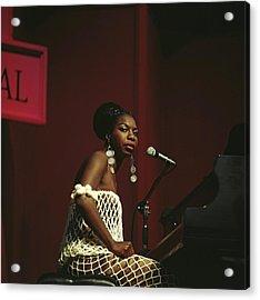 Nina Simone Acrylic Print by David Redfern