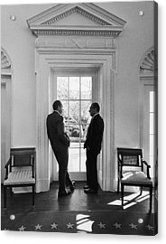 Nixon And Kissinger Acrylic Print