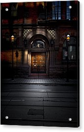Acrylic Print featuring the photograph No 107 Wellington St W Toronto Canada Color Version by Brian Carson