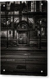Acrylic Print featuring the photograph No 107 Wellington St W Toronto Canada Toned Version by Brian Carson