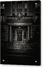 Acrylic Print featuring the photograph No 212 King Street West Toronto Canada by Brian Carson