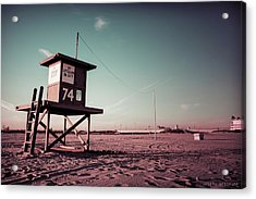 No Lifeguard On Duty Acrylic Print