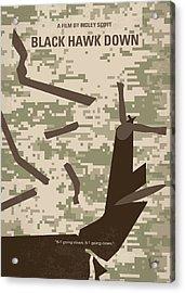 No1076 My Black Hawk Down Minimal Movie Poster Acrylic Print