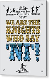No11 My Silly Quote Poster Acrylic Print